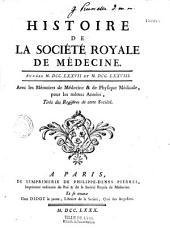 Mémoires de la Sociéte Royale de Médecine