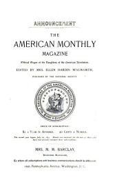 Daughters of the American Revolution Magazine: Volume 3