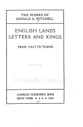 English lands, letters and kings ...