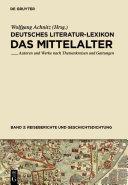 Deutsches Literatur Lexikon Reiseberichte Und Geschichtsdichtung