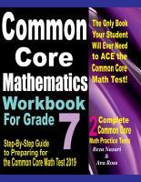 Common Core Mathematics Workbook For Grade 7 PDF