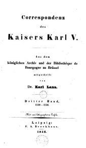 Correspondenz des kaisers Karl V.: Bd. 1550-1556