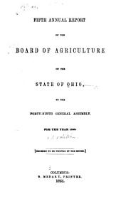 Annual Report of the Board of Agriculture of the State of Ohio: Volume 5, Part 1850