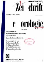 Zeitschrift für Meteorologie