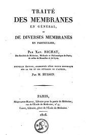 Traité des membranes en général et de diverses membranes en particulier