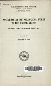 Accidents at metallurgical works in the United States: during the calendar years 1917