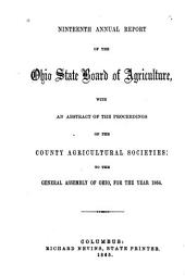 Annual Report of the Ohio State Board of Agriculture: Volume 19, Part 1865