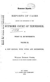 Reports of Cases Argued and Determined in the Supreme Court of Tennessee: Volume 28