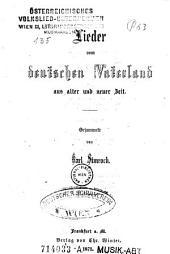 Lieder vom deutschen Vaterland aus alter und neuer Zeit