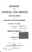 Zeitschrift f  r Kapital und Rente PDF