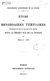 Exploration scientifique de la Tunisie publiée sous les auspices du Ministère de l'instruction publique: Paléontologie ...