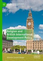 Religion and British International Development Policy PDF