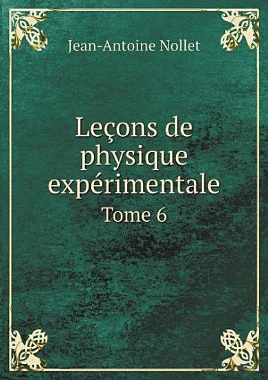Le ons de physique exp rimentale PDF