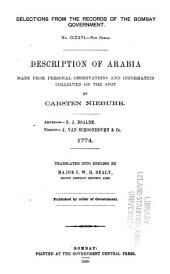 ... Description of Arabia Made from Personal Observations and Information Collected on the Spot by Carsten Niebuhr