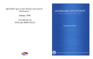 Affordable spacecraft   design and launch alternatives   background paper