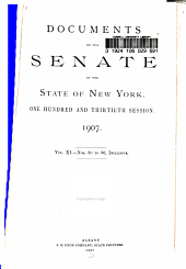 Documents of the Senate of the State of New York: Volume 11