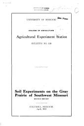 Soil Experiments on the Gray Prairie of Southwest Missouri