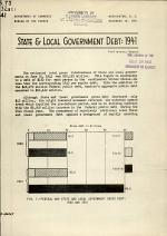 State & Local Government Debt: 1941