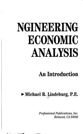 Engineering Economic Analysis PDF