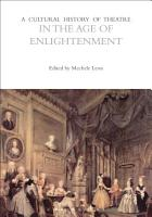 A Cultural History of Theatre in the Age of Enlightenment PDF