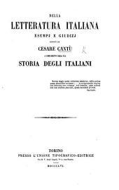 La Letteratura italiana esposta alla gioventù per via d'esempj