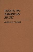 Essays on American Music PDF