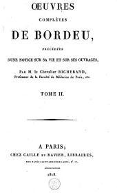 Oeuvres complètes de Bordeu: Volume2