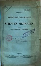 Extrait du Dictionnaire encyclopédique des Sciences médicales...: article Simulation