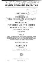 Charity Disclosure Legislation PDF