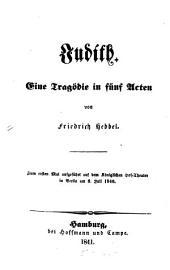 Judith: Eine Tragödie in 5 Akten