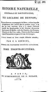 Histoire naturelle generale et particuliere: Volume38