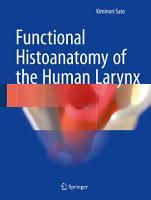 Functional Histoanatomy of the Human Larynx PDF