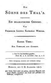 Die Söhne des Thal's: Th. Die Templer auf Cypern