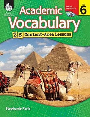 Academic Vocabulary 25 Content Area Lessons PDF