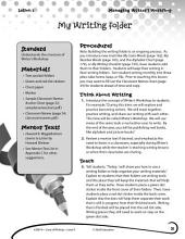 Writing Lesson Level K--My Writing Folder