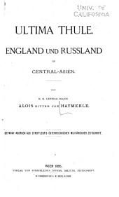 Ultima Thule: England und Russland in Central-Asien