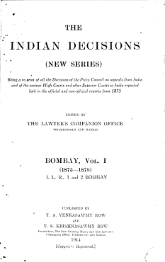 The Indian Decisions  new Series  High Court Reports PDF