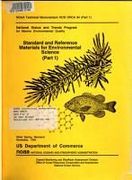 Standard and Reference Materials for Environmental Science PDF