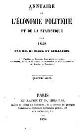 Annuaire de l'économie politique et de la statistique: Volume15