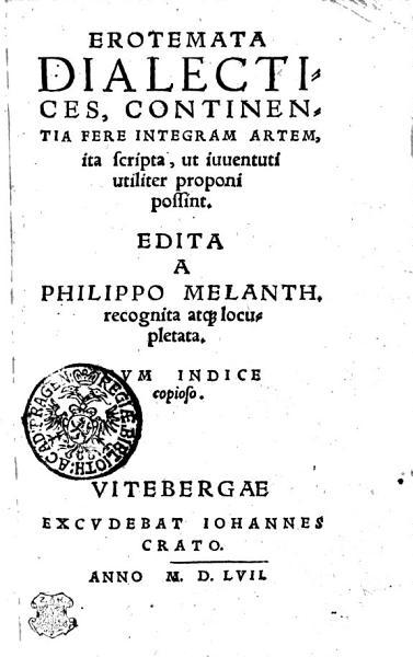 Erotemata Dialectices Continentia Fere Integram Artem Ita Scripta Ut Iuuentuti Utiliter Proponi Possint