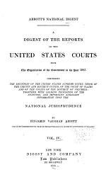 A Digest of the Reports of the United States Courts