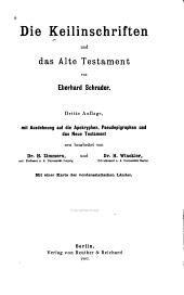 Die Keilinschriften und das Alte Testament: Band 1