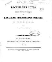Recueil des actes de la séance publique de l'Académie Impériale des Sciences de St. Pétersbourg, tenue le 29 décembre 1830
