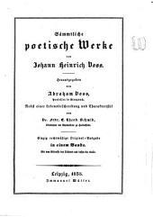 Sämmtliche poetische Werke von Johann Heinrich Voss