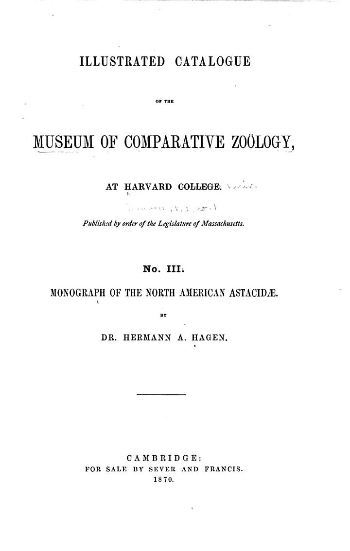 Memoirs of the Museum of Comparative Zoölogy at Harvard College