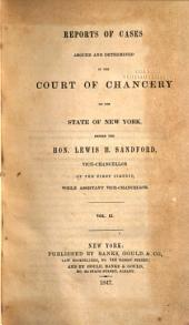 Reports of Cases Adjudged and Determined in the Court of Chancery of the State of New York [1814-1850]: Johnson's Chancery reports, v. 6-7; Hopkin's Chancery reports, v. 1; Paige's Chancery reports, v. 1-2