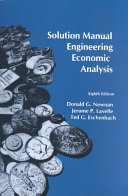 Solution Manual for Engineering Economic Analysis Book