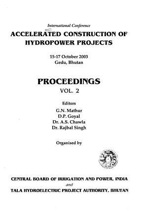 International Conference  Accelerated Construction of Hydropower Projects PDF