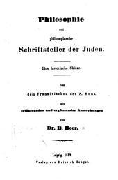 Philosophie und philosophische Schriftsteller der Juden: Eine historische Skizze