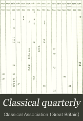 The Classical Quarterly: Volume 9